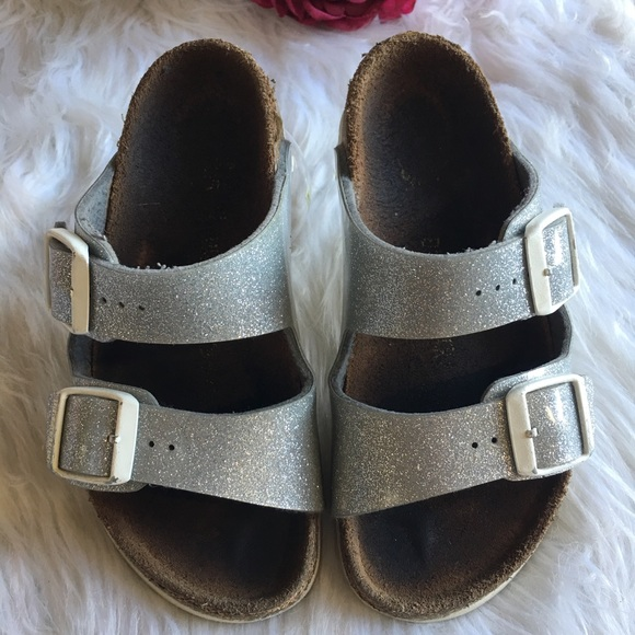 7c33aa367cbe Birkenstock Other - Girls Birkenstock Arizona Silver Glitter 11 - 11.5